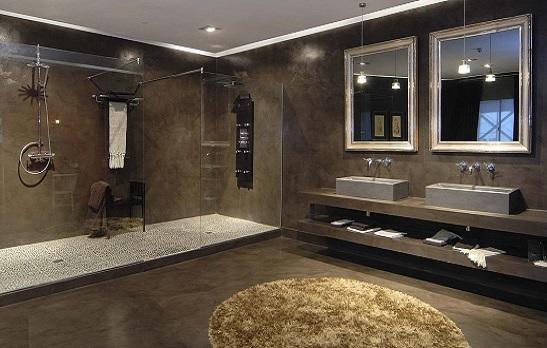 baños con microcemento